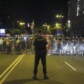 Policía durante una manifestación