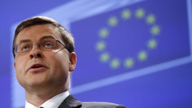 Valdis Dombrovskis, vicepresidente de la Comisión Europea para el Euro