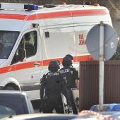 Imagen de las fuerzas de seguridad alemanas en el lugar del tiroteo