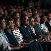Mariano Rajoy junto con otros líderes del PP en la Conferencia Política