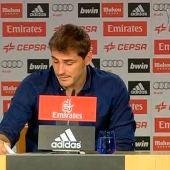 Iker Casillas en rueda de prensa