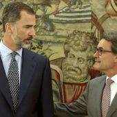 Rey y Artur Mas
