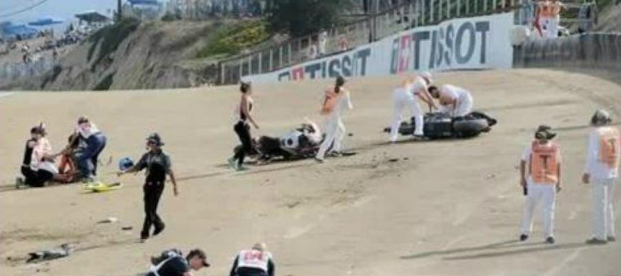 Momento del accidente de Laguna Seca