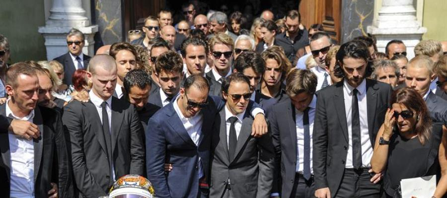 Funeral del fallecido Jules Bianchi