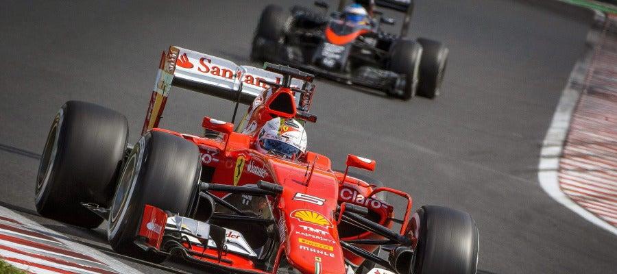 Sebastian Vettel en el GP de Hungría
