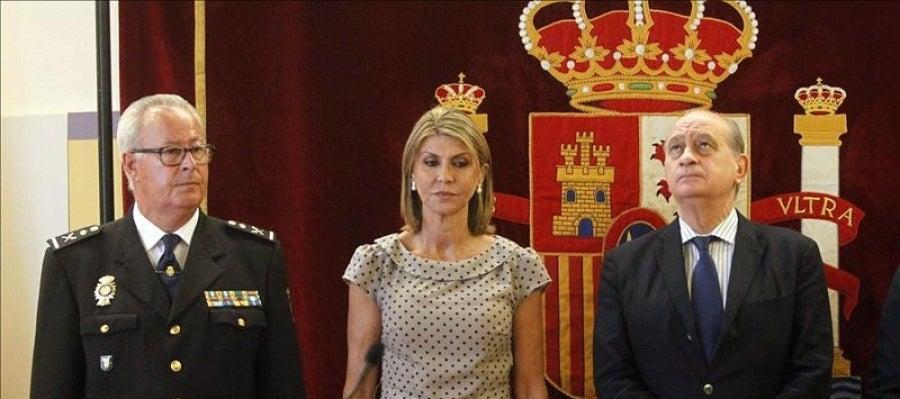 Jorge Fernández Díaz, junto a la delegada del Gobierno en Cataluña