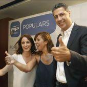 Andrea Levy, Alicia Sánchez Camacho y Xavier García Albiol