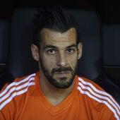 Negredo, durante un partido con el Valencia