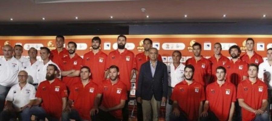 Presentación de la selección española rumbo al Eurobasket