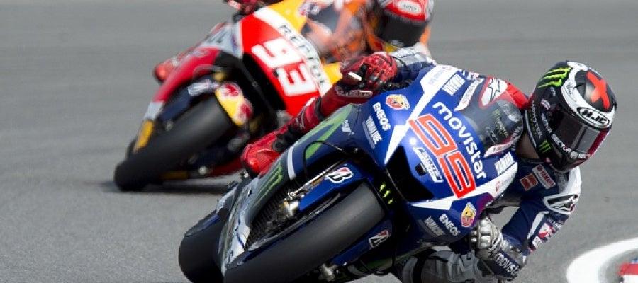 Jorge Lorenzo y Mar Márquez en el Gran Premio de República Checa