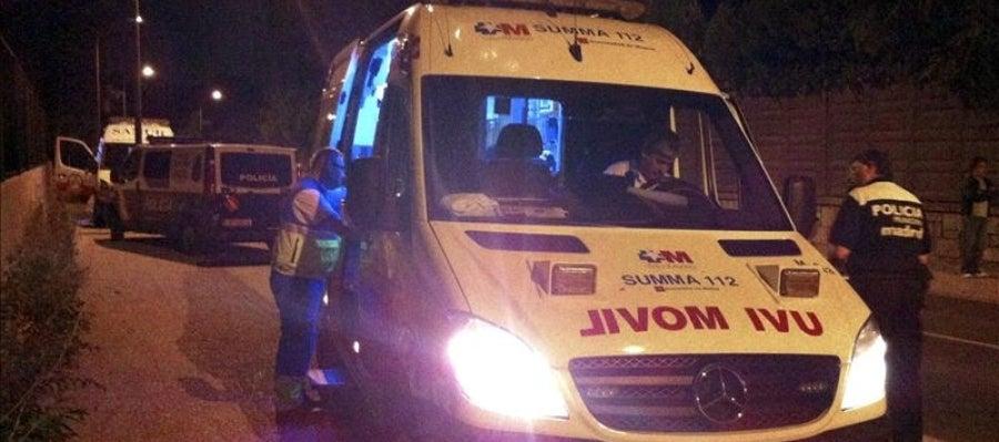 Una ambulancia en un suceso
