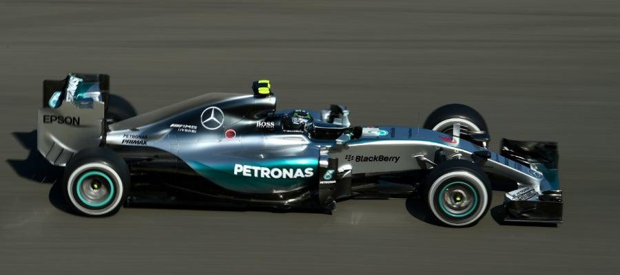 Nico Rosberg el más rápido en los libres del GP de Bélgica