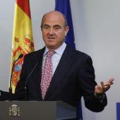 Luis de Guindos comparece en rueda de prensa tras la reunión del Ecofin