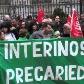Manifestación docentes interinos en Oviedo