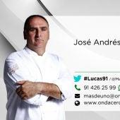 El chef José Andrés en Más de uno