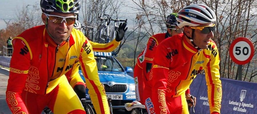 Valverde y Purito durante los mundiales