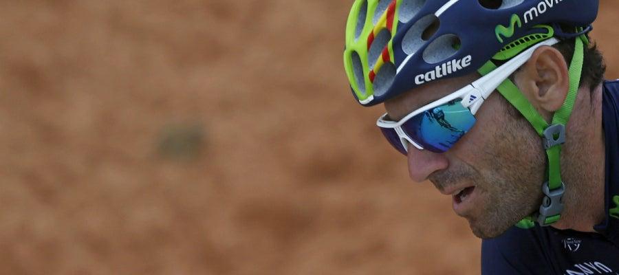 Alejandro Valverde, en una etapa de la vuelta
