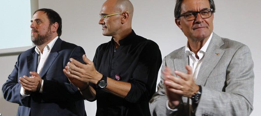 Artur Mas, Raul Romeva y Oriol Junqueras