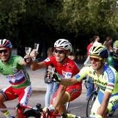 Fabio Aru, junto a Purito y Majka