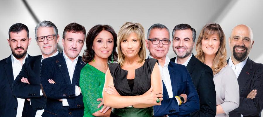 Héctor Fernández, Javier Ares, Javier Ruiz Taboada, Isabel Gemio, Julia Otero, Juanra Lucas, Alsina, Elena Gijón y David del Cura