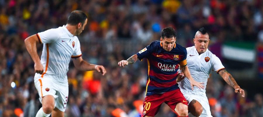 Messi en el Trofeo Joan Gamper contra la Roma