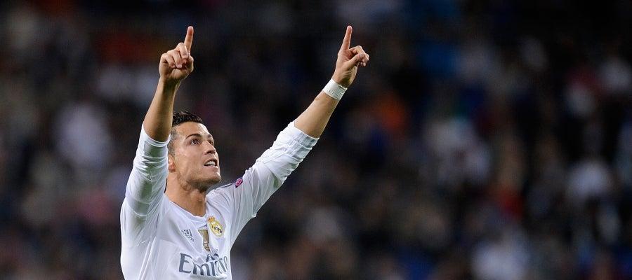 Cristiano marca su tercer gol en el partido