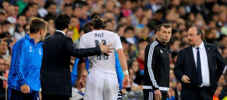 Bale se retira lesionado