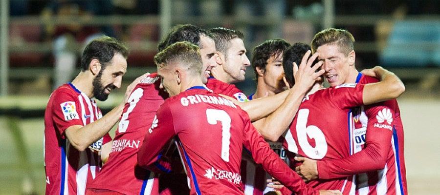 El Atlético celebra la victoria frente al Eibar