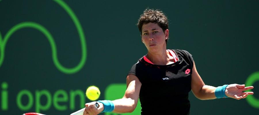 Carla Suárez, durante un partido
