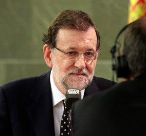 Mariano Rajoy durante su entrevista en Más de uno