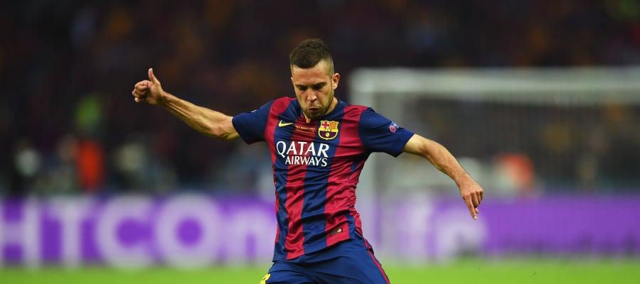 Jordi Alba, durante un partido con el F.C Barcelona