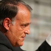 Javier Tebas, durante una intervención