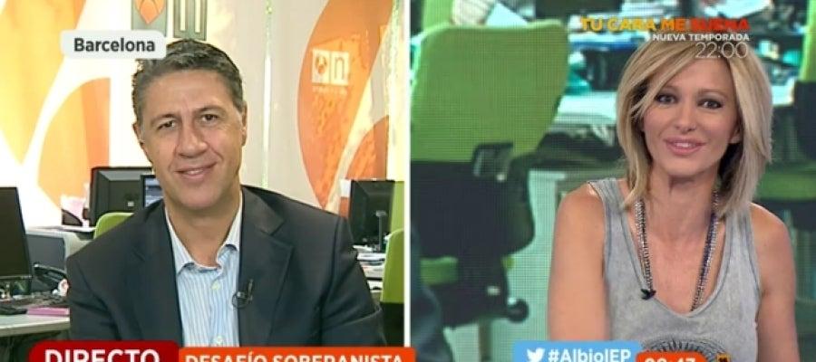 El candidato a la Presidencia de Cataluña, Xavier García Albiol, en Espejo Público