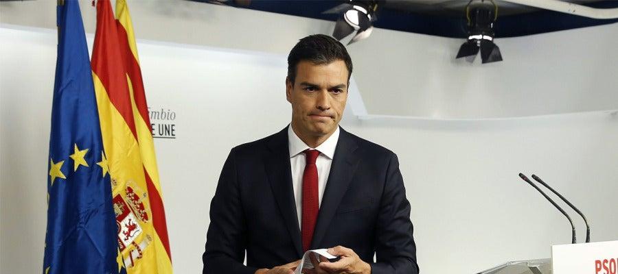 Pedro Sánchez tras los resultados electorales catalanes