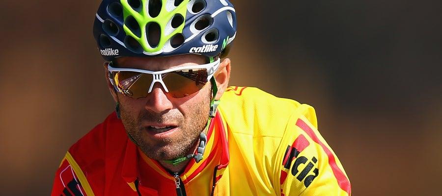 Alejandro Valverde con la selección española de ciclismo
