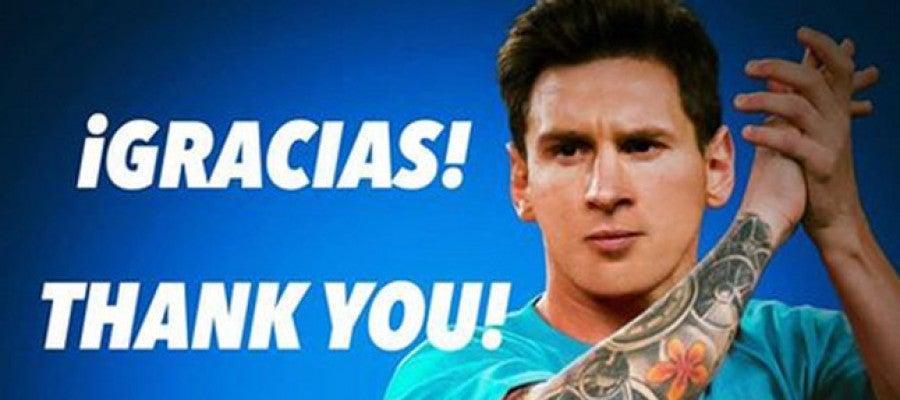 Leo Messi agradece el apoyo