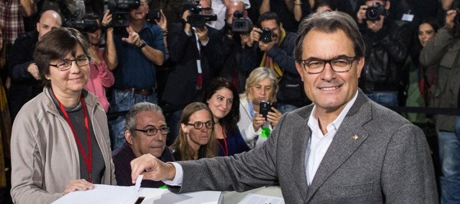 El presidente de la Generalitat, Artur Mas, en el 9N