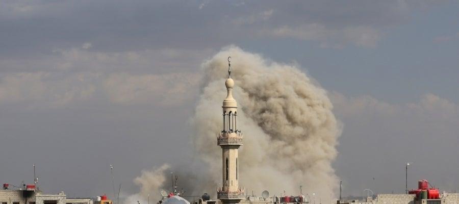 Bombardeo en la ciudad de Homs