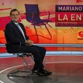 Mariano Rajoy entrevistado por Gloria Lomana en Antena 3