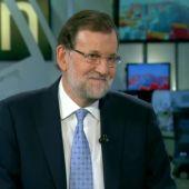 Mariano Rajoy durante la entrevista en Antena 3