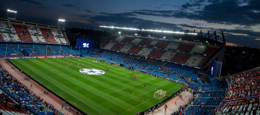 El estadio Vicente Calderón