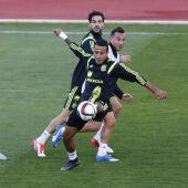 Thiago, en un entrenamiento en Las Rozas
