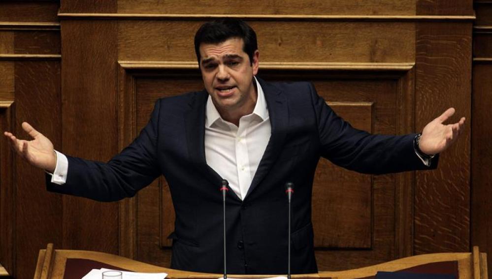 El presidente griego, Alexis Tsipras