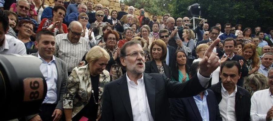 Mariano Rajoy, a su llegada al último acto de Partido Popular