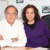 Paco Arango e Isabel Gemio