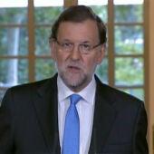 Mariano Rajoy, en el Palacio de La Moncloa