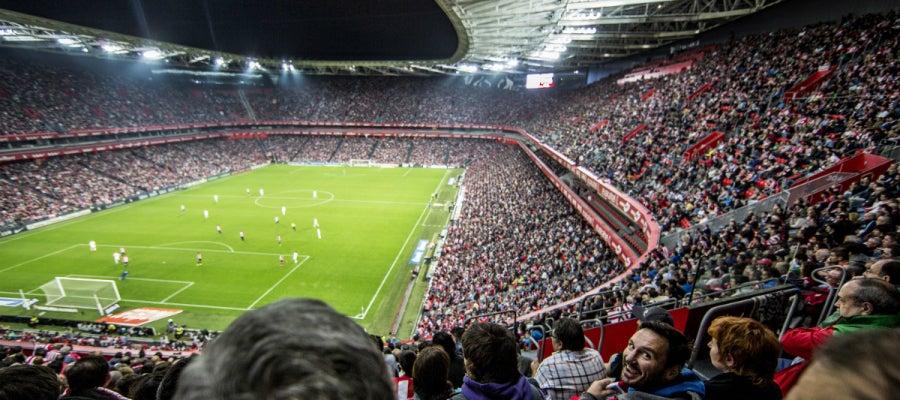 El nuevo San Mamés, durante un Athletic - Real Madrid
