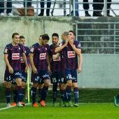 Los jugadores del Eibar celebran una victoria