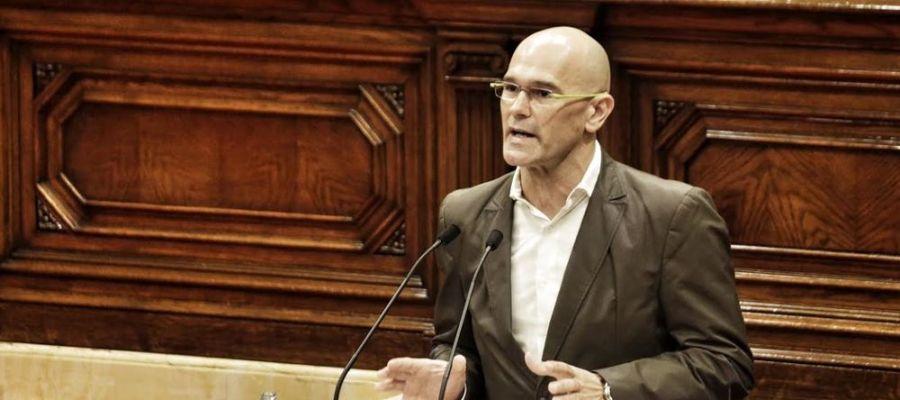 Raül Romeva en el Parlament de Cataluña
