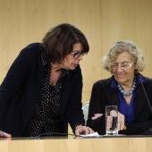 Carmena e Inés Sabanés